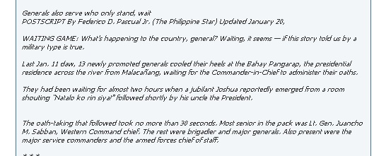 Noynoy Generals Josh 2