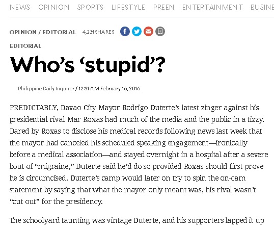 How Can Mar BeStupid??